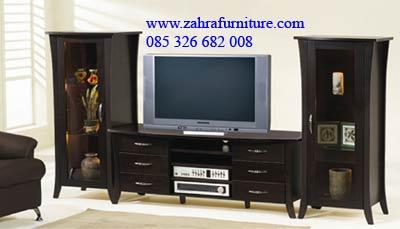 meja tv hitam mewah